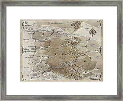 Third Age Sylvan Continent Map Framed Print