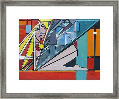 Third Angel Framed Print by Valerie Wolf