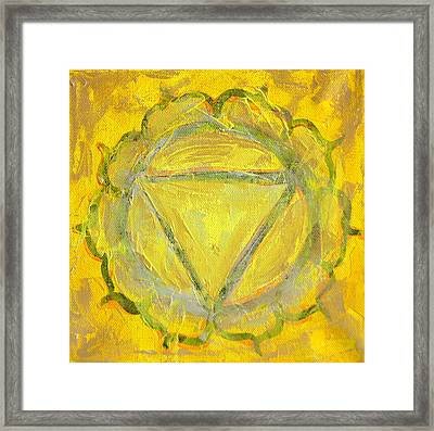Third Chakra Framed Print by Mary Haas