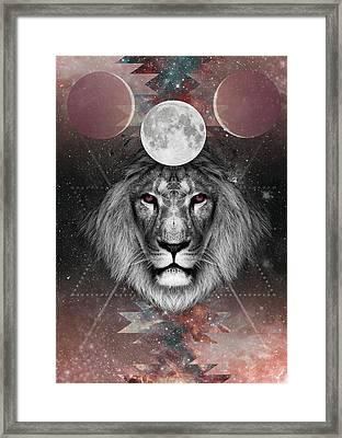 Third Eye Lion Vision Framed Print by Lori Menna