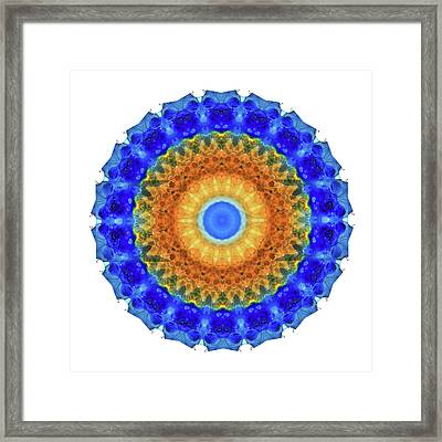 Third Eye Mandala Art By Sharon Cummings Framed Print by Sharon Cummings