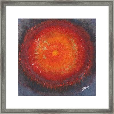 Third Eye Original Painting Framed Print by Sol Luckman