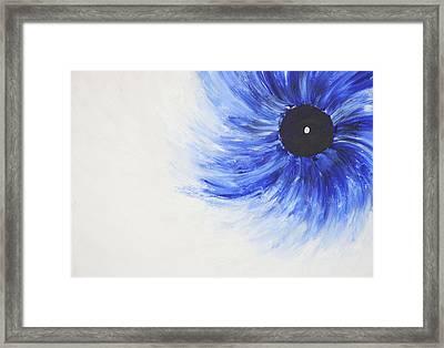Third Eye-ris Framed Print by Malik Jaffer