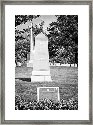 third infantry division memorial arlington cemetery Washington DC USA Framed Print