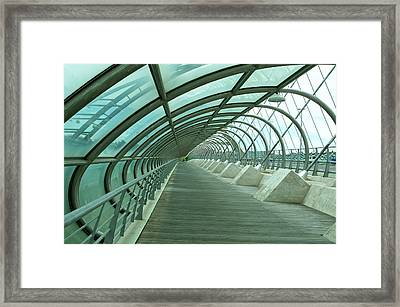 Third Millenium Bridge, Zaragoza, Spain Framed Print