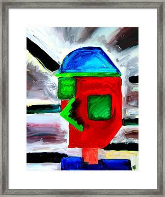 Third Millenium Man Framed Print by John Toxey