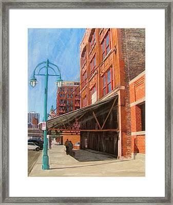 Third Ward - Broadway Awning Framed Print by Anita Burgermeister