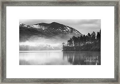 Thirlmere In The Mist Monochrome Framed Print