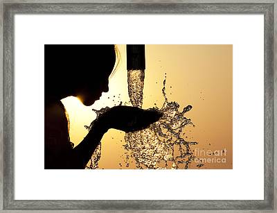Thirsty Framed Print by Tim Gainey