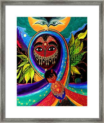 Framed Print featuring the painting Mother And Child by Marina Petro