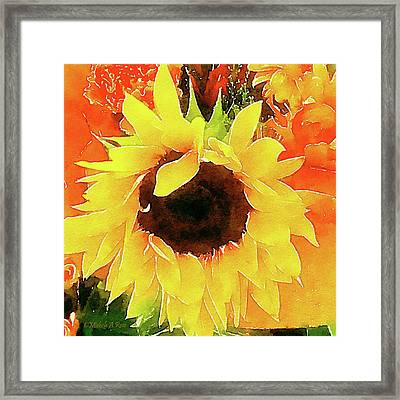 This Ain't No Mellow Yellow Framed Print by Michele Ross