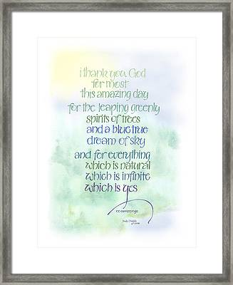 This Amazing Day Framed Print