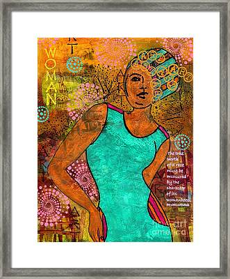 This Artist Speaks Truth Framed Print by Angela L Walker