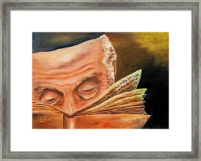 This Book Of The Law Shall Not Depart Out Of Thy Mouth Framed Print by Itzhak Richter