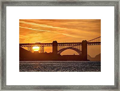 Framed Print featuring the photograph This Bridge Never Gets Old by Peter Thoeny