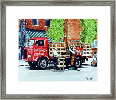 This Bud's For You Framed Print