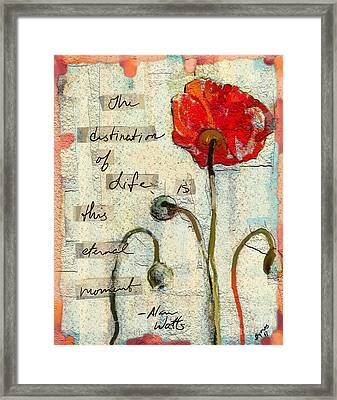 Framed Print featuring the painting This Eternal Moment by Carrie Joy Byrnes