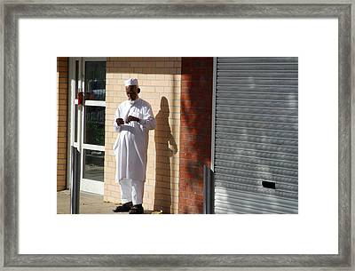 This Goes Here Framed Print by Jez C Self