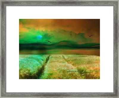 This Golden Earth Framed Print