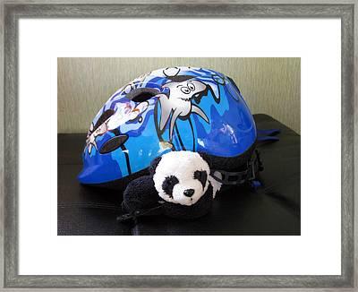 Framed Print featuring the photograph This Helmet Is So Heavy Ugh by Ausra Huntington nee Paulauskaite