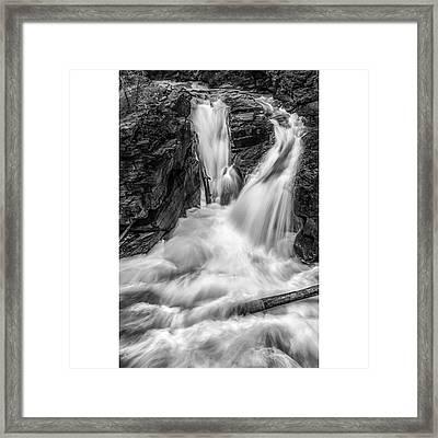 This Image Was Taken In Glacier Framed Print