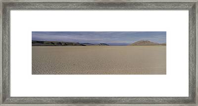 This Is A Dry Lake Pattern Framed Print