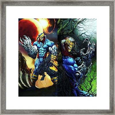 This Is A Picture Of death's Head Framed Print