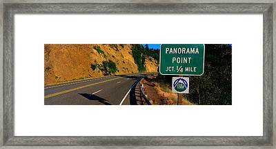This Is A Road Sign That Says Panorama Framed Print