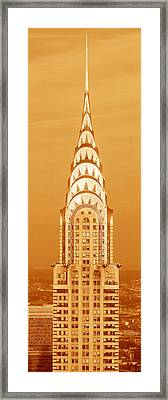 Chrysler Building At Sunset Framed Print by Panoramic Images