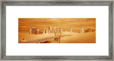 This Is A Sepiatone Of The Brooklyn Framed Print by Panoramic Images
