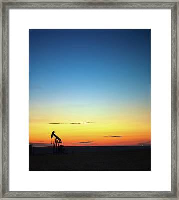 This Is Alberta No.14b - Prairie Oil Sunset Framed Print by Paul W Sharpe Aka Wizard of Wonders