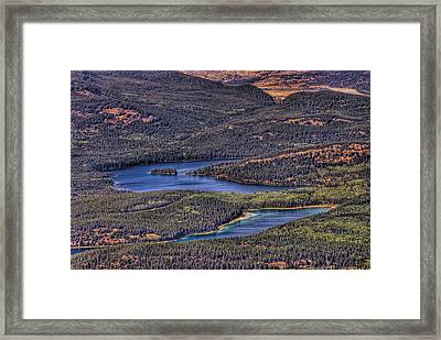 This Is Alberta No.18 - Pyramid And Patricia Lake Framed Print by Paul W Sharpe Aka Wizard of Wonders