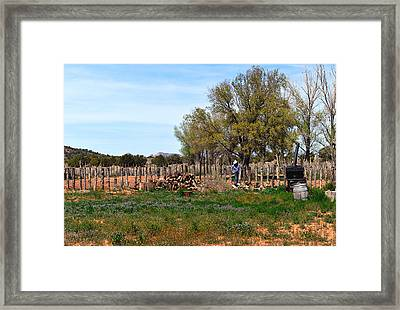 This Is Arizona No. 4 - Fort Williams Cowboy At Work Framed Print