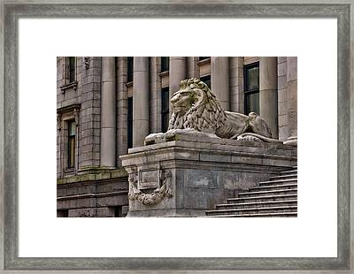 This Is British Columbia No.48 - Vancouver Art Gallery Lion Framed Print by Paul W Sharpe Aka Wizard of Wonders