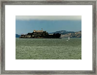 This Is California 7 - Escaping From Alcatraz Framed Print by Paul W Sharpe Aka Wizard of Wonders