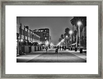 This Is California No. 11 - Venice Beach Biker Framed Print by Paul W Sharpe Aka Wizard of Wonders