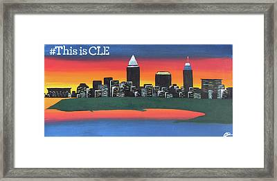 This Is Cle Framed Print by Cyrionna The Cyerial Artist