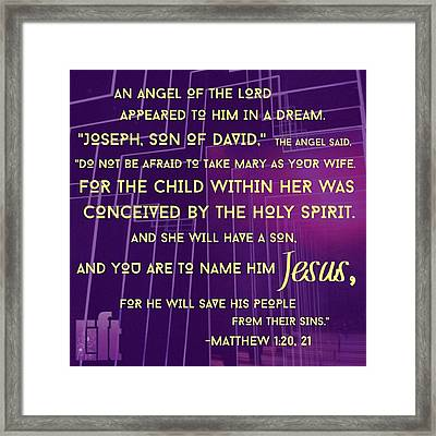 This Is How Jesus The Messiah Was Born Framed Print