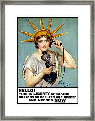 This Is Liberty Speaking - Ww1 Framed Print by War Is Hell Store