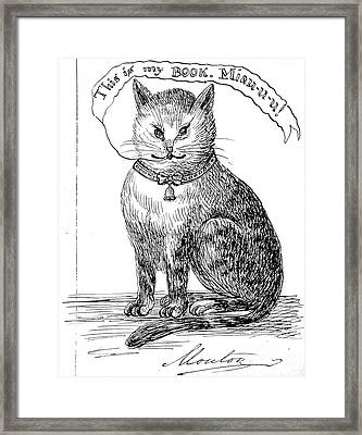 This Is My Book, Miau-u-u, 1859 Framed Print by Wellcome Images