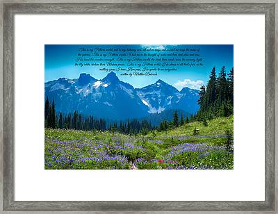 This Is My Fathers World 3 Framed Print by Lynn Hopwood