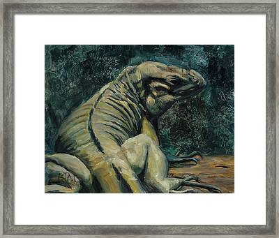 Framed Print featuring the painting This Is My Good Side by Billie Colson