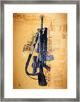 This Is My Rifle Riflemans Creed Framed Print