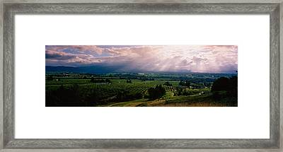 This Is Near The Hood River. It Framed Print
