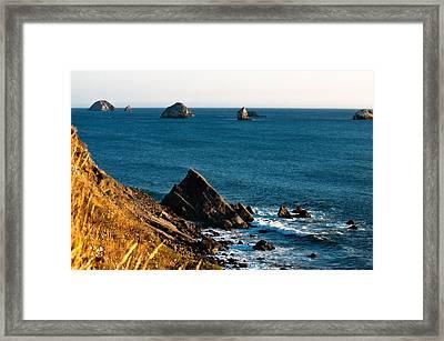 This Is Oregon State 1 - The Oregon Coast Framed Print by Paul W Sharpe Aka Wizard of Wonders