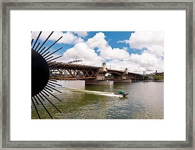 This Is Oregon State No.21 - Portlands Burnside Street Bridge Framed Print