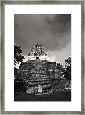 This Is Temple 2 At Tikal Framed Print by Stephen Alvarez