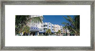 This Is The Art Deco District Of South Framed Print by Panoramic Images