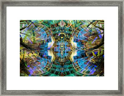 This Is The Line Of Division Framed Print