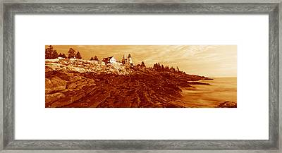 This Is The Pemaquid Point Lighthouse Framed Print